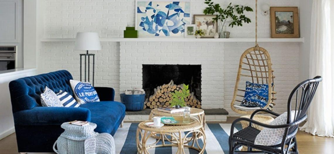 Thư thái với bộ sofa lấy cảm hứng từ màu xanh dương