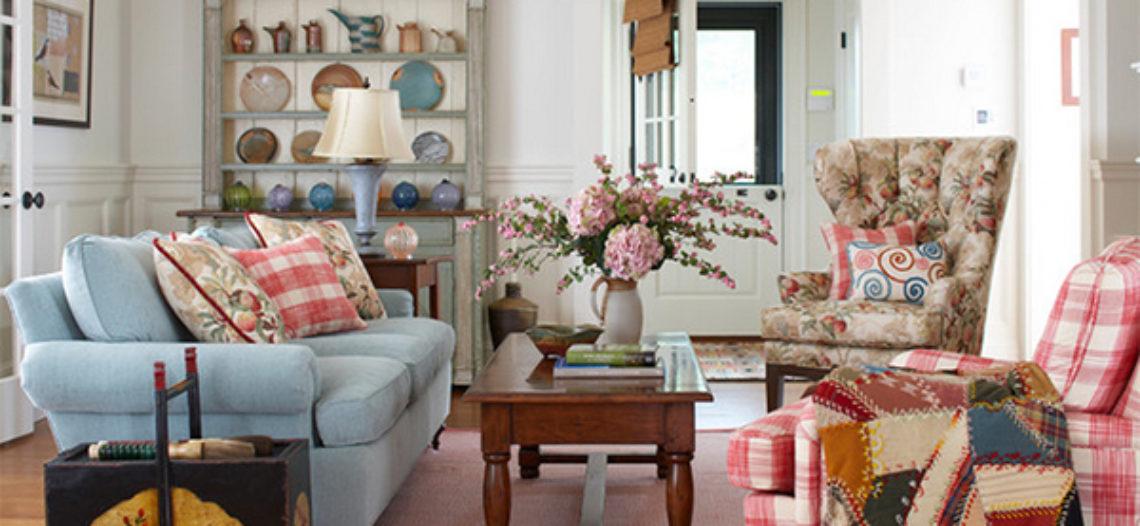 20 mẫu thiết kế phòng khách phủ hoa xinh xắn