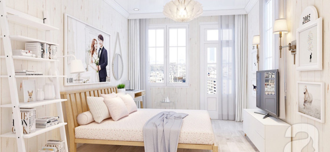 Phòng ngủ đẹp hoàn hảo 15m² của vợ chồng trẻ chỉ với 20 triệu