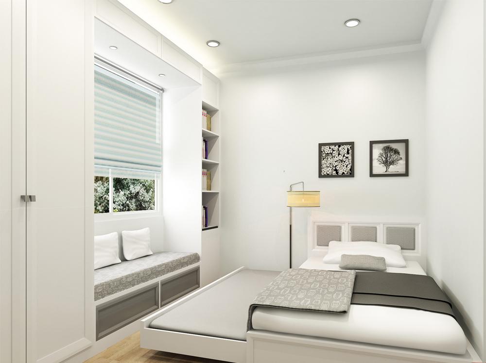 Kết quả hình ảnh cho thiết kế nội thất phòng ngủ đẹp cho nhà ống chật hẹp