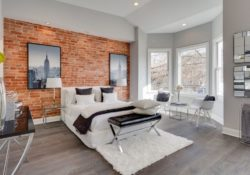 Tường gạch trong phòng ngủ – xu hướng chưa bao giờ cũ
