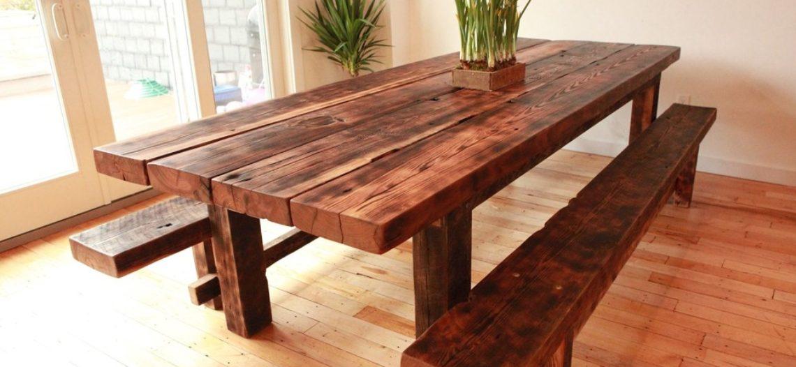 Cách tạo ra bộ bàn ăn gỗ ấn tượng