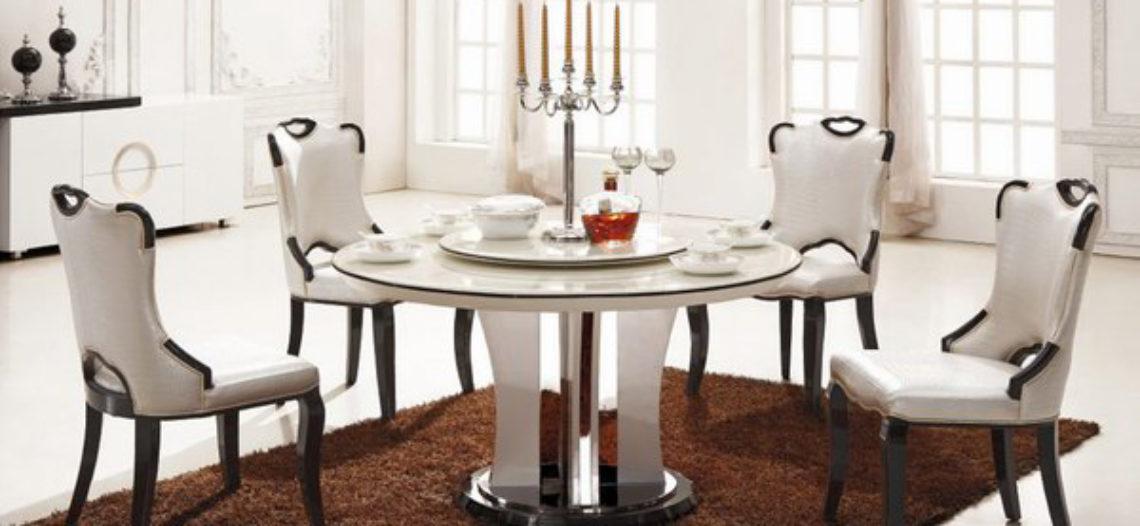 Căn bếp thêm tinh tế với những bộ bàn ăn đá xinh xắn