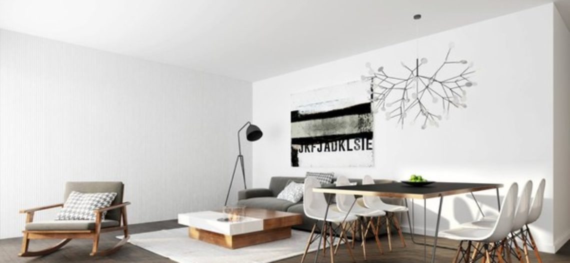 Không gian mở cho phòng khách căn hộ chung cư nhỏ