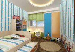 Làm đẹp phòng bé với mẫu giường tầng đẹp bằng gỗ sơn sắc màu