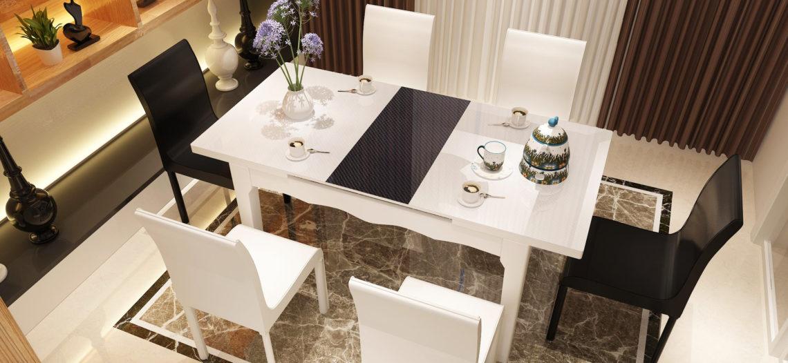 Kết quả hình ảnh cho bàn ăn đẹp hiện đại