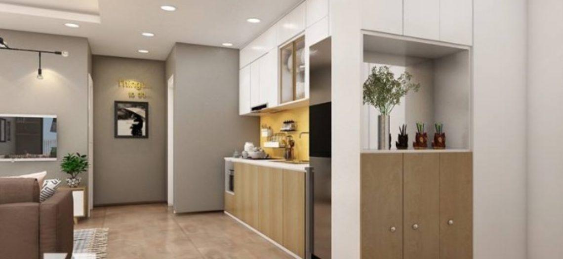 Thiết kế nội thất phòng bếp đơn giản, hiện đại