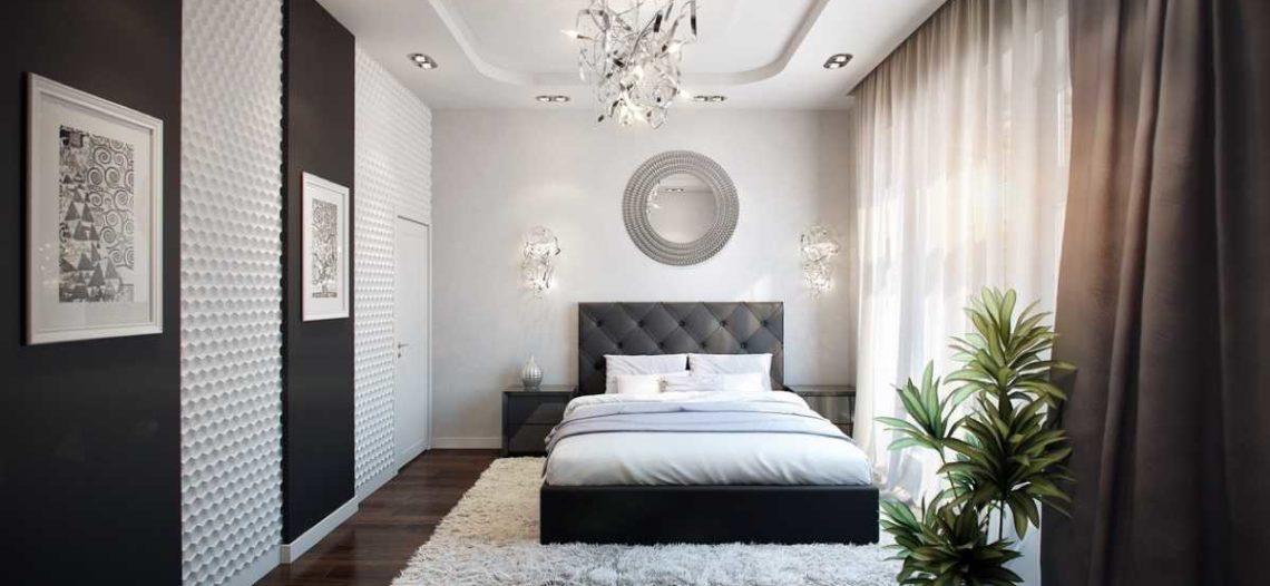 Thiết kế phòng ngủ ấn tượng với 2 màu đen – trắng
