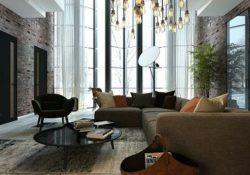 Trang trí phòng khách nổi bật và ấn tượng hơn với đèn trang trí