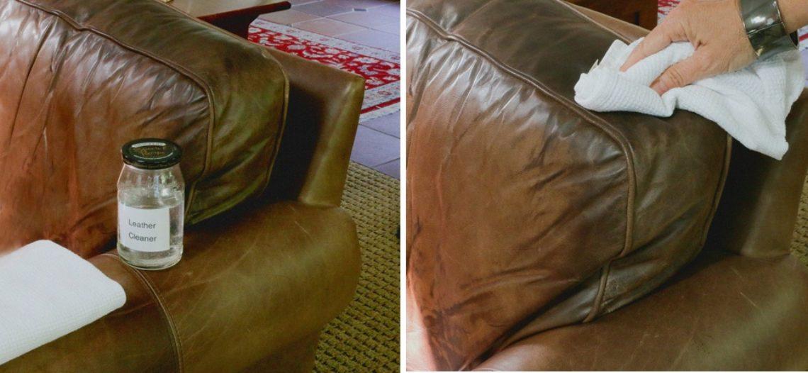 Vệ sinh ghế sofa da sạch như mới