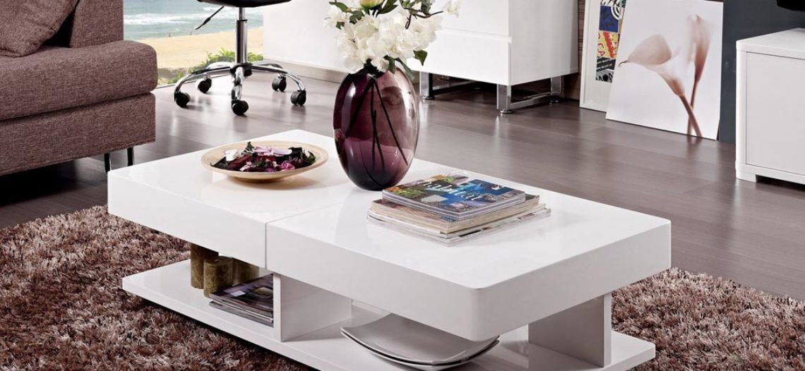 Top 6 mẫu bàn trà màu trắng cực sang trọng cho phòng khách