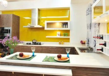 Bộ sưu tập thiết kế nội thất phòng bếp màu vàng cực ấn tượng