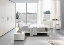 Giường ngủ màu trắng tinh tế và sang trọng