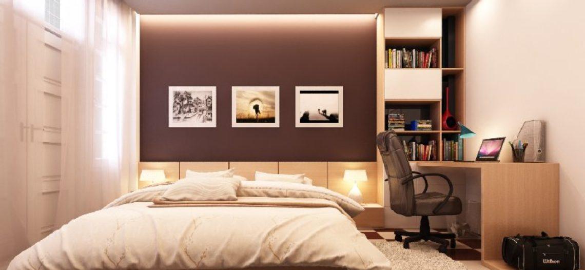 Tham khảo thiết kế nội thất phòng ngủ cho vợ chồng mới cưới
