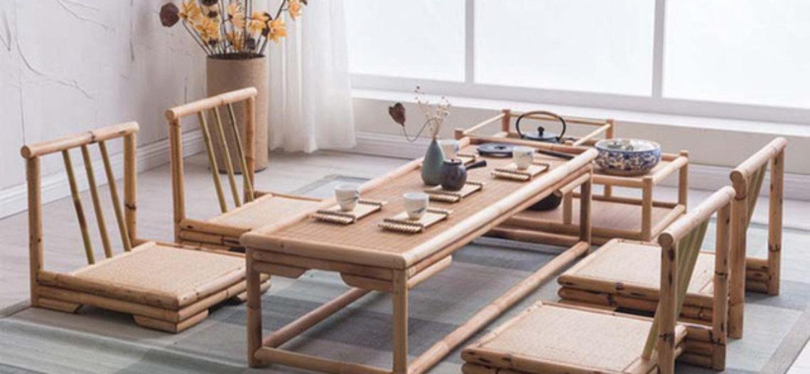 Phòng khách tinh tế với các mẫu thiết kế nội thất tre