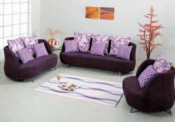 Sofa màu tím lãng mạn cho nội thất phòng khách