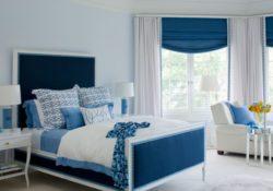 Thiết kế nội thất phòng ngủ ấn tượng với gam màu xanh dương