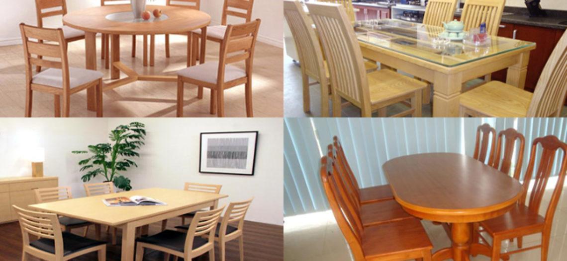 Khi mua bàn ăn gỗ cao su bạn cần biết điều gì?