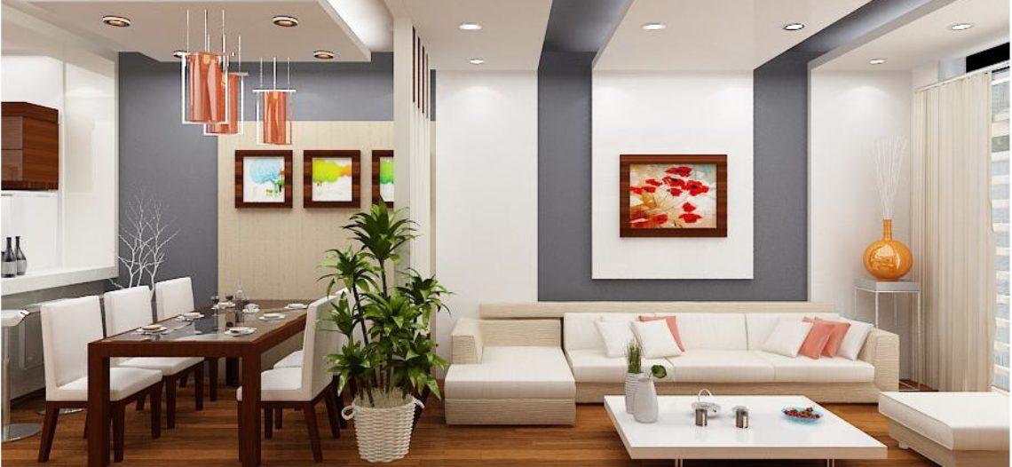 Tiết kiệm không gian với bàn ăn phòng khách