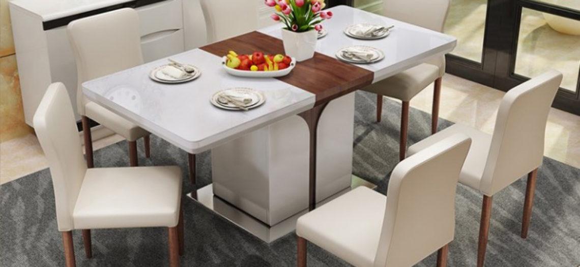 Bộ bàn ghế nhập khẩu cao cấp điểm nhấn không gian phòng bếp gia đình bạn