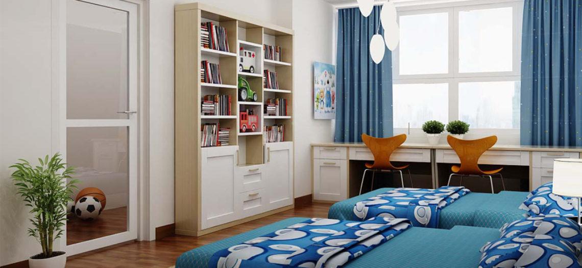 Phòng ngủ lãng mạn bắt mắt với rèm cửa trang trí