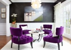 Làm thế nào để sử dụng sofa màu tím trong phòng khách thật đẹp?