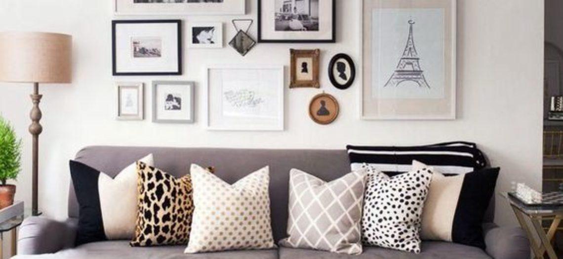Ý tưởng trang trí tường phòng khách bằng Photo Gallery