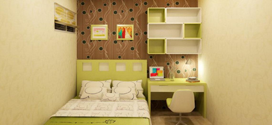Nội thất phòng ngủ đơn giản tinh tế với giường ngủ nhật bản