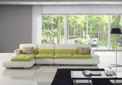 Không gian phòng khách tối giản với ghế sofa bed