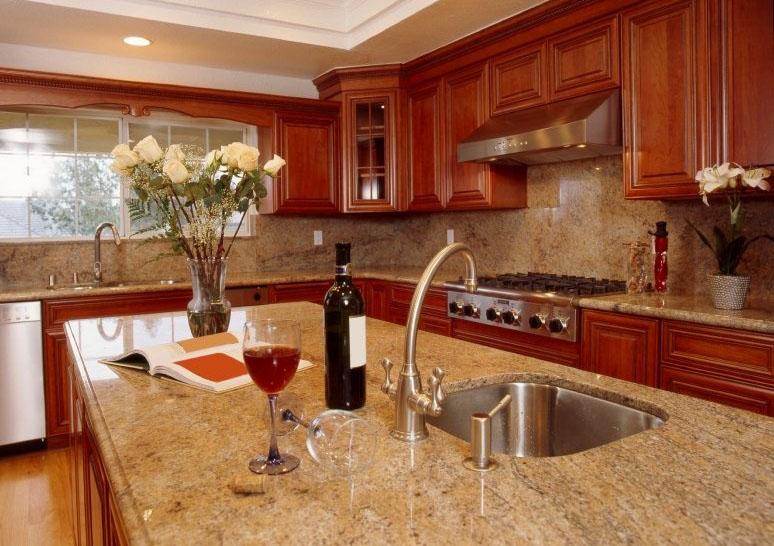 Bí quyết phối màu đá granite đẹp mắt cho bàn bếp 5