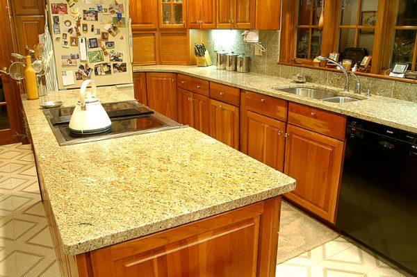 Bí quyết phối màu đá granite đẹp mắt cho bàn bếp 2