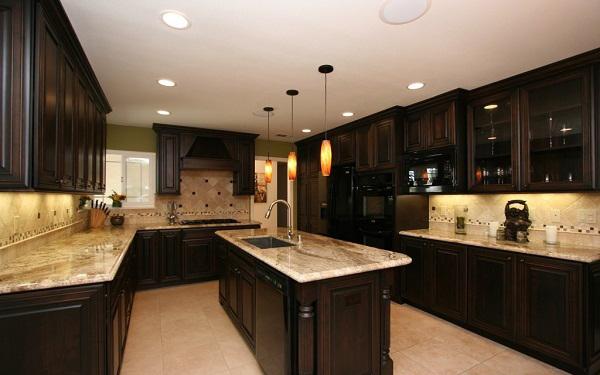 Bí quyết phối màu đá granite đẹp mắt cho bàn bếp 1