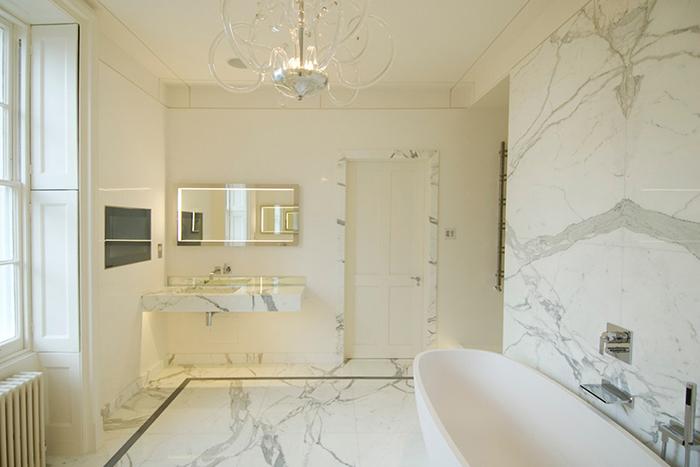 Những lưu ý khi sử dụng đá marble ốp tường