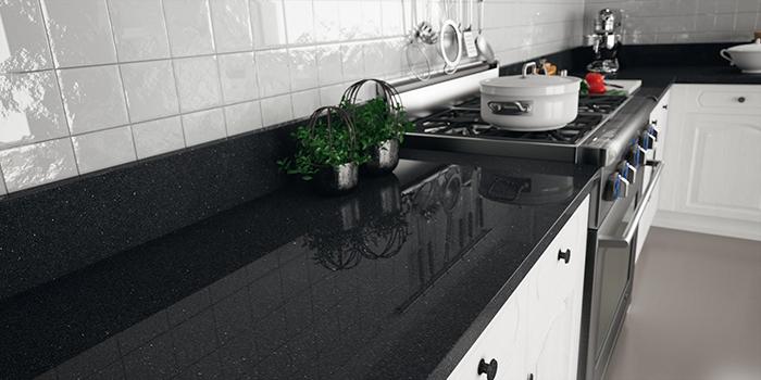 Đá granite đen ánh kim-sự lựa chọn thông minh cho không gian bếp-01