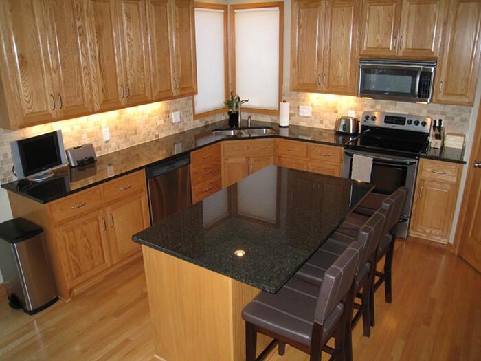 Đá granite đen ánh kim-sự lựa chọn thông minh cho không gian bếp-08
