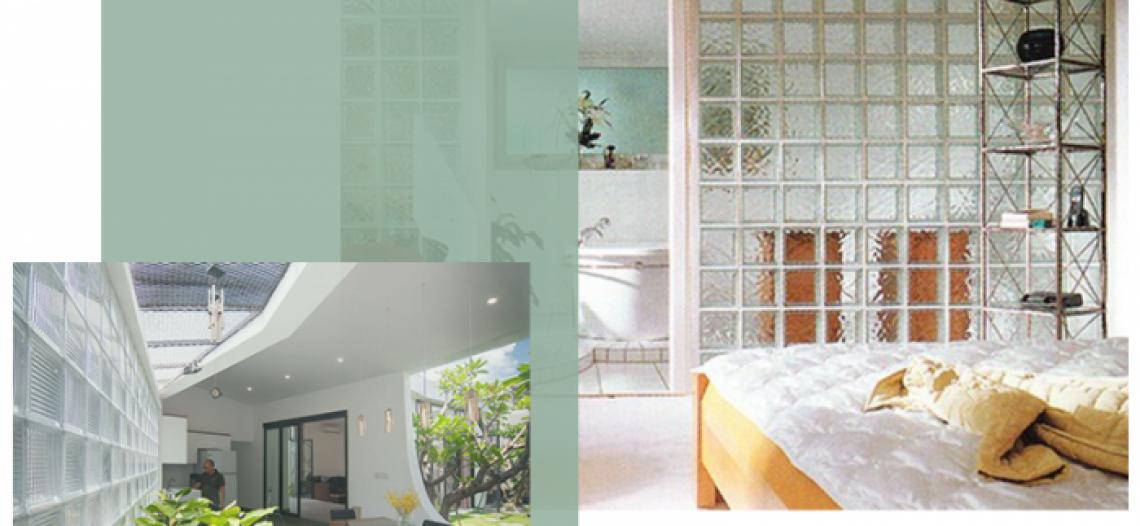 Xu hướng sử dụng gạch kính lấy sáng trong thiết kế nội thất