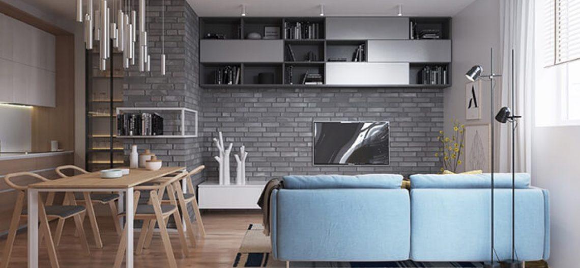 Top 6 ý tưởng trang trí bằng gạch thẻ ốp tường