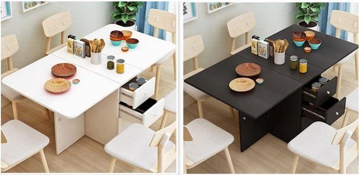 Gợi ý một số mẫu bộ bàn ăn thông minh gấp gọn cho gia đình bạn 2