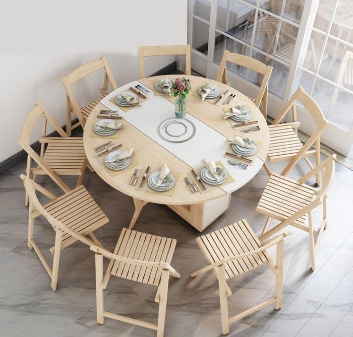 Gợi ý một số mẫu bộ bàn ăn thông minh gấp gọn cho gia đình bạn 9