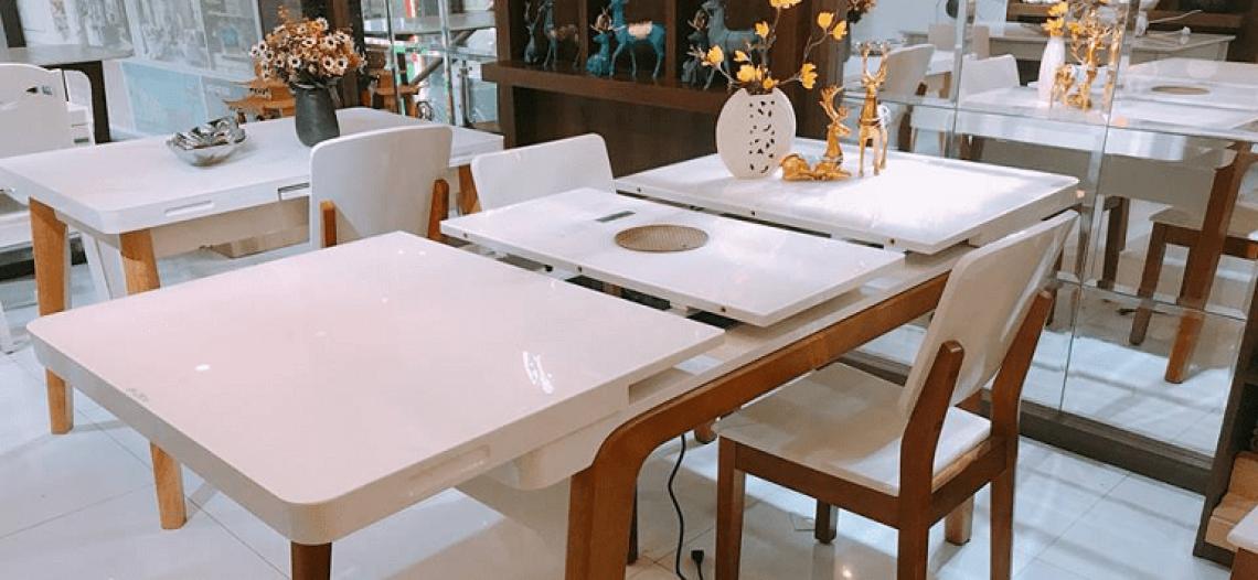 Giúp bạn hiểu rõ hơn về bàn ăn thông minh kéo dài