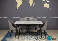 Đánh giá bộ bàn ăn mặt đá hình chữ nhật C6 đang HOT trên thị trường