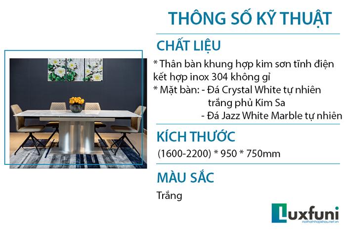 Bàn ăn T809 - kiệt tác bàn ăn thông minh nhập khẩu sang trọng