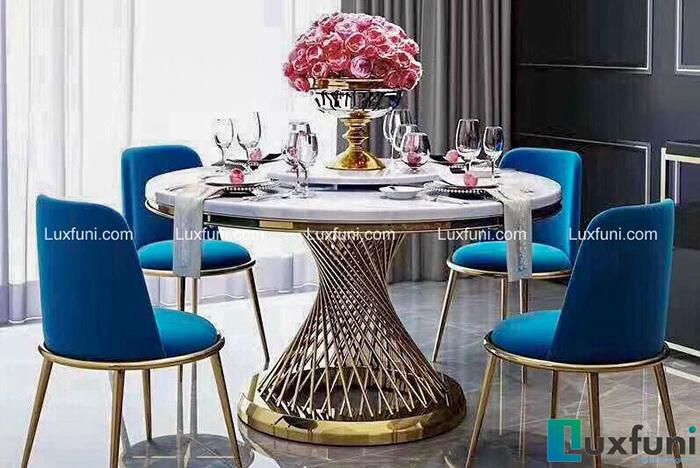 Top 7 mẫu bàn ăn tròn đẹp siêu chất