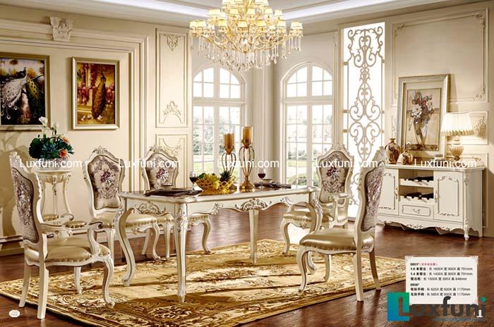 Không gian đẹp như mơ với top 4 mẫu bàn ăn tân cổ điển giá rẻ -3