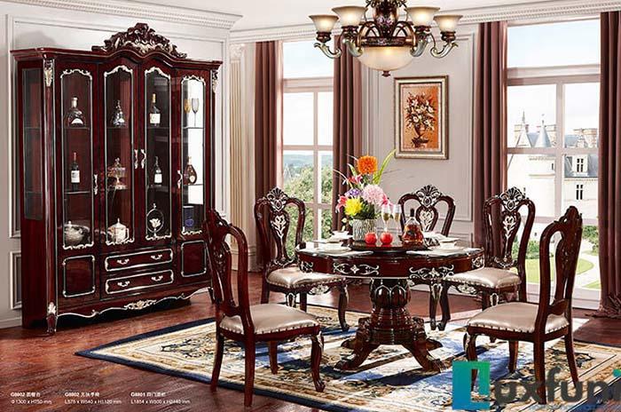 Không gian đẹp như mơ với top 4 mẫu bàn ăn tân cổ điển giá rẻ -4