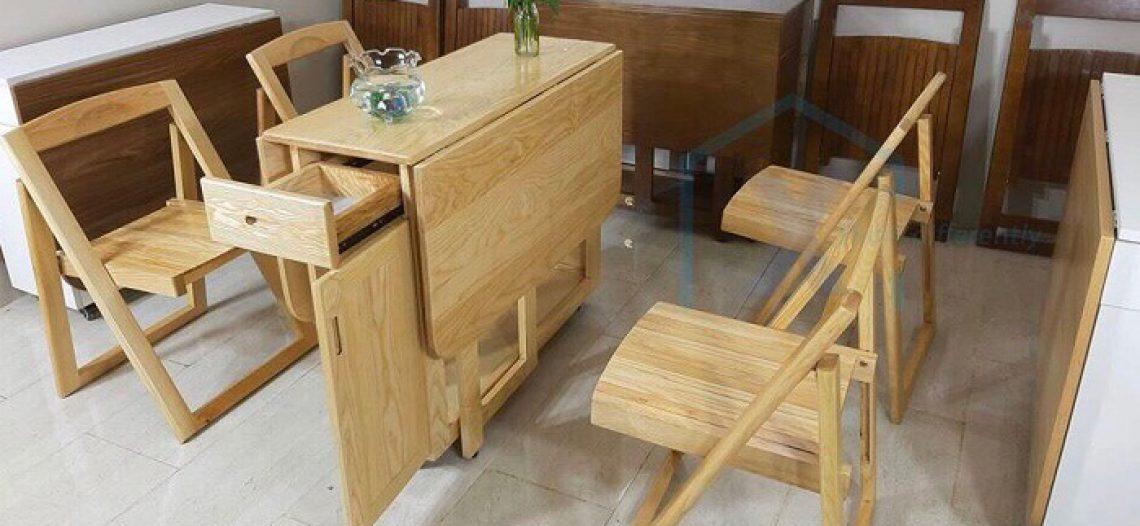 Cách chọn bàn ăn thông minh gỗ sồi phù hợp với không gian bếp