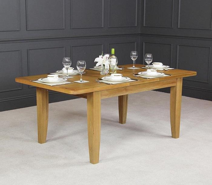 bàn ăn thông minh gỗ sồi kéo mở