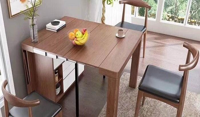 bàn ăn thông minh từ gỗ sồi nga
