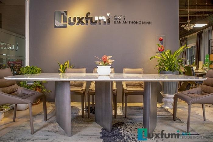 bàn ăn gỗ mặt đá cẩm thạch