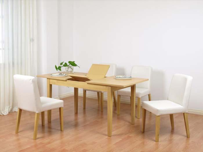 Bàn ăn thông minh gỗ tự nhiên làm từ gỗ sồi